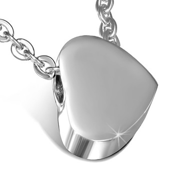 Personalized Stainless Steel Love heart charm with Link chain