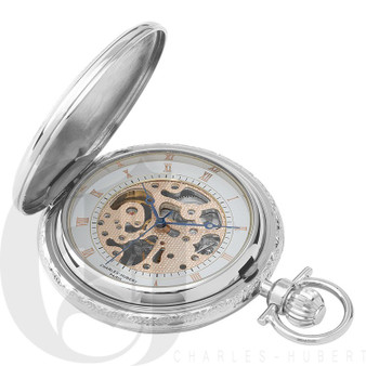 Two-Tone Hunter Case Mechanical Pocket Watch by Charles Hubert