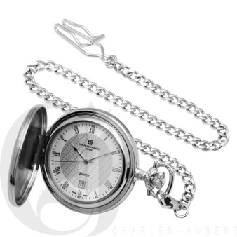 Personalized Hunter Case Pocket Watch by Charles Hubert