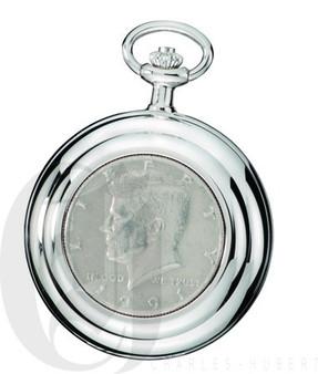 Genuine U.S. Half Dollar Coin Quartz Pocket Watch by Charles Hubert
