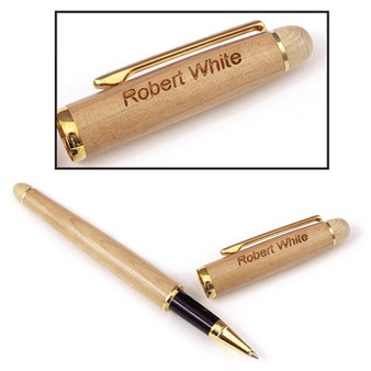 Personalized Maple Classic Rollerball Pen