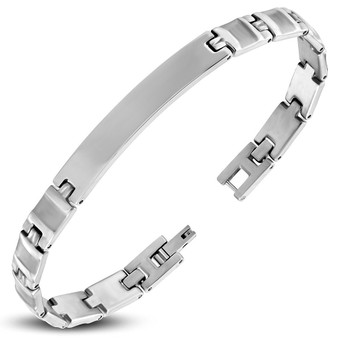 Personalized 7.5mm Quality Stainless Steel ID Bracelet