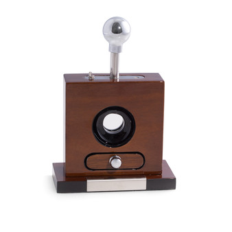 Personalizd Laccquered Walnut WoodTable Top Cigar Cutter