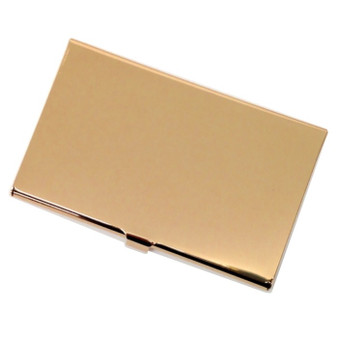 Personalized Gold Color Plated Business Card Holder