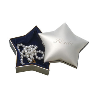 Personalized Quality Star Shaped Jewelry Box