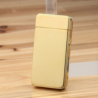 USB Electric Dual Arc Metal Flameless Rechargeable Windproof Lighter