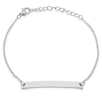 Personalized Stainless Steel ID Bracelet for Her