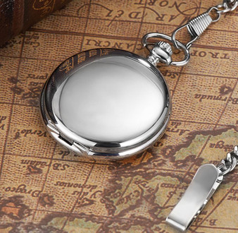 Personalized Luxury Hand Wind Mechanical Pocket Watch With Numbers