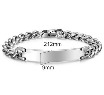 Personalized 9mm Quality Stainless Steel ID Bracelet