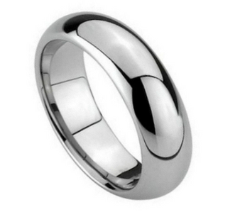 Personalized 5mm Tungsten Carbide Polished Shiny Ring