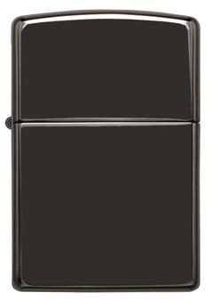Personalized High Polish Black Genuine Zippo Lighter