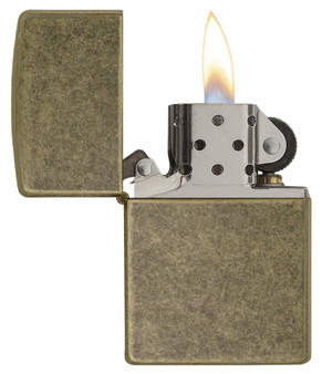 Personalized Antique Brass Finish Genuine Zippo Lighter