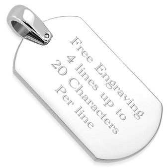 Engraved ID Pendant