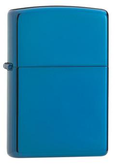 Personalized High Polish Blue Genuine Zippo Lighter