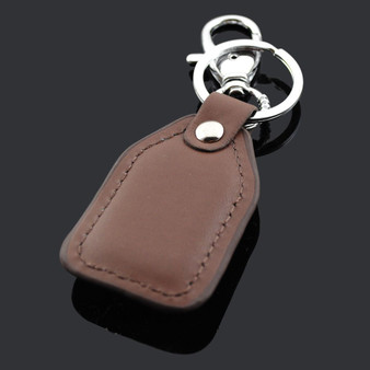 Personalized Brown PU Leather Carabiner keychain