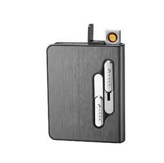 Personalized USB Rechargeable automatic Cigarette Case With Lighter