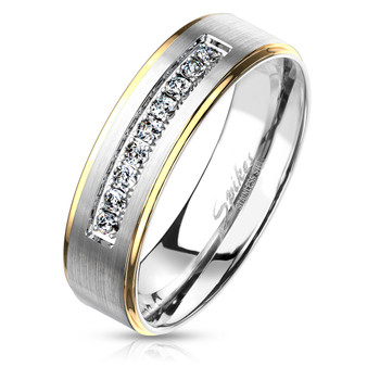 Personalized Quality 6mm Stainless Steel Stepped Edge Rings