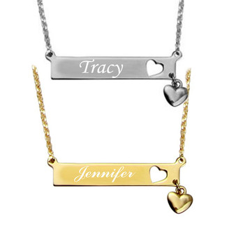 Personalized Name Bar Pendant