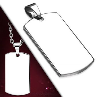 Personalized Quality Stainless Steel 2.7mm Dog Tag Pendant