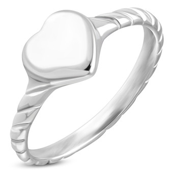 Personalized Stainless Steel Braided Twisted Band Ring