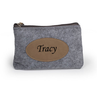 Personalized Saddle Flannel Travel Purse Bag