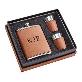 Engraved Flask Set