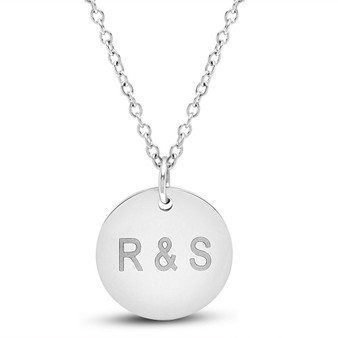 Personalized Quality Stainless Steel Small Round Pendant with Chain