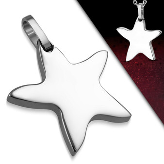 Personalized Stainless Steel Star Charm Pendant With Chain
