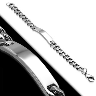 Personalized 10mm Quality Stainless Steel  ID Bracelet