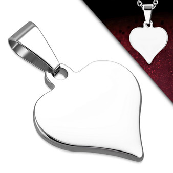 Quality Stainless Steel Heart Charm Pendant Necklace- Free Engraving