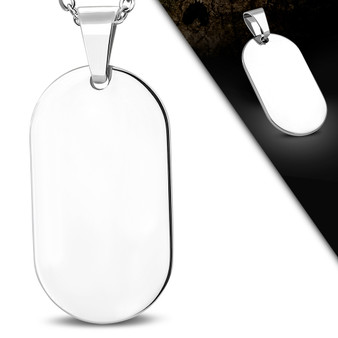 Personalized Stainless Steel High Polish Quality Pendant with Chain