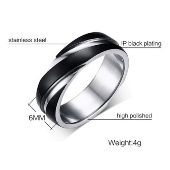 Personalized Quality Stainless Steel Black and Silver Alliance Promise Ring