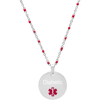 Personalized Stainless Steel Medical ID Necklace With Chain