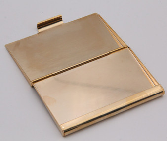 Personalized Quality Luxury Gold Color Metal Business Card Holder