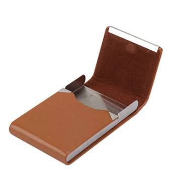 Personalized Quality Leatherette & Stainless Steel Cigarette Case/ Card Holder