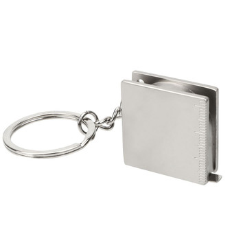 "Personalized Stainless Steel Keychain with 39"" Tape Measure"