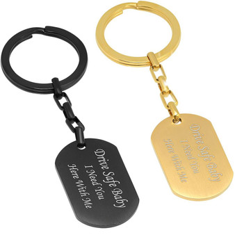 Personalized Quality Stainless Steel Brushed Keychain - Free Engraving