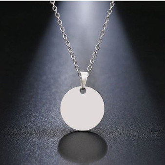 Quality Stainless Steel Round Pendant Necklace