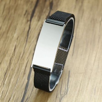 Personalized Quality Adjustable Stainless Steel  Mesh Bracelet With Magnetic Clasp