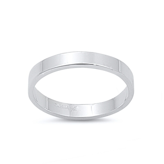 Personalized .925 Sterling Silver  Flat Band Ring