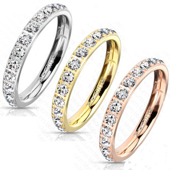 Personalized Quality 3mm Titanium Eternity Ring
