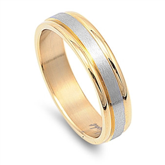 Personalized Stainless Steel Two Tone  Ring