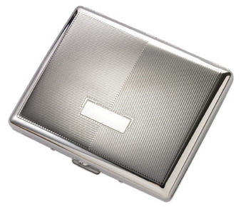 Quality Double Sided Silver Cigarette Case
