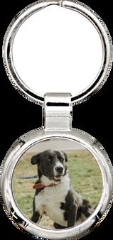 Personalized Quality Round Photo Keychain