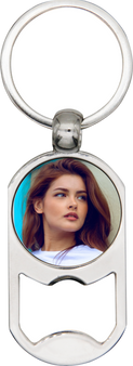 Personalized Quality Metal Bottle Opener Photo Keychain