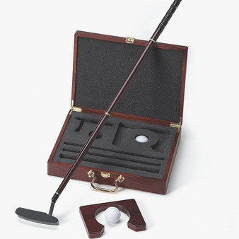 Personalized Executive Travel Golf Putter Gift Set