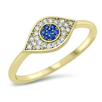 Sterling Silver Eye Ring