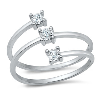 Quality .925 Sterling Silver CZ Ring