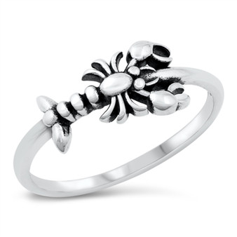 Personalized 925 Sterling Silver Ring - Lobster