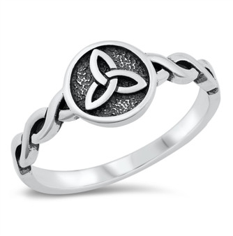 Personalized 925 Sterling Silver Ring - Triquetra